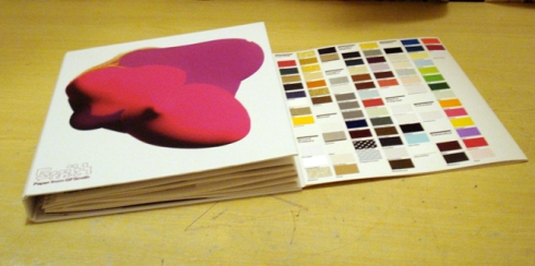 The samples folder I got sent by the kind people at GFSmith:)