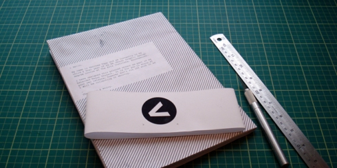 The mock-up of the printed experiment.